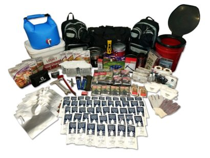 4 person 2 week earthquake survival kit