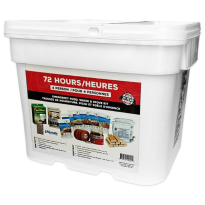 72 Hour Food Water and Stove kit 4 Person